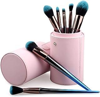 TCPF Basic Makeup Brushes set, Gradient Blue Makeup Brushes Kit, Cosmetic Brush set with Face Eyeshadow Foundation Blush Lip Makeup Brushes Powder Cosmetics Blending Makeup Brush Set,7PCS