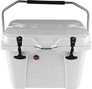 Tahoe Trails 26-Quart High-Performance Cooler for River Trips and Camping,White,Carry Handles Fold Away for Easy Packing in Truck or Raft,Rotomolded, Seamless One Piece Construction