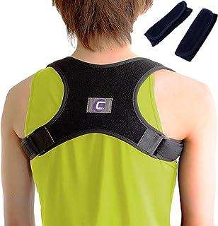 C-LIFE 猫背 姿勢 矯正 ベルト 肩こり 腰痛 解消 男女兼用 フリーサイズ