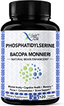 PhosphatidylSerine & Bacopa Monnieri 400 mg 2 in 1 Supplement - Natural Brain Enhancer/Nootropic for Enhanced Focus and Co...