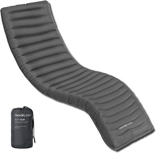 Trekology UL Inflatable Sleeping Pad, Camping Mat for Sleeping - ALUFT UL80 Compact Lightweight Camp Mats, Ultralight...
