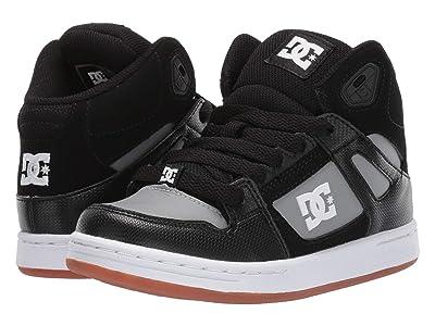 DC Kids Pure High-Top (Little Kid/Big Kid) (Black/Grey) Boys Shoes