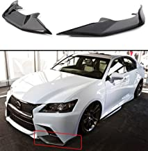 2 PC JDM Carbon Fiber Front Bumper Splitter Lip Fits for 2013-2015 Lexus GS350 F Sport