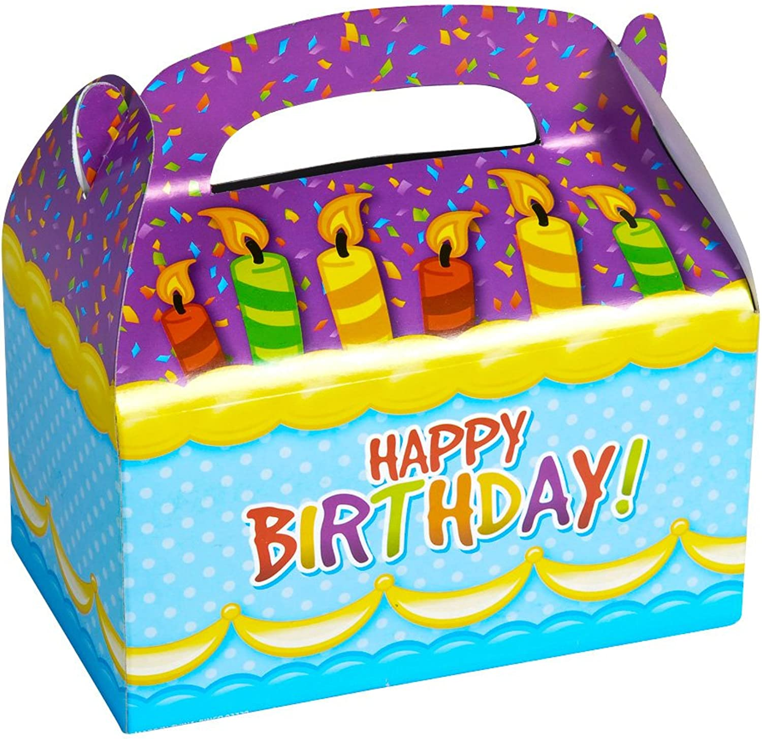 DOMAGRON Happy Birthday Treat Boxes (pack of 12)