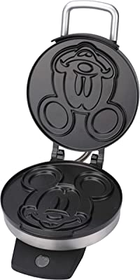 Disney DCM-1 Classic Mickey Waffle Maker, Brushed Stainless Steel,Silver,7 inch waffle