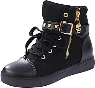 MayBest Women's Autumn Rivets High-top Casual Canvas Shoes