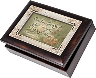 Cottage Garden Greatest Riches Friend Like You Burlwood Jewelry Music Box Plays What Friends are for