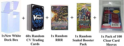 Cardfight Vanguard 60 Cards Pack w  RRR + 1 Sealed Pack + Deck Box & Sleeves by Yu-Gi-Oh