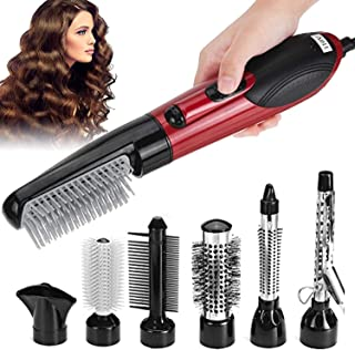 Curling Iron 7-in-1 Hair Dryer Brush Set and Volumizer, Detachable Hair Dryer Styler, One-Step Hot Air Brush for Straighte...