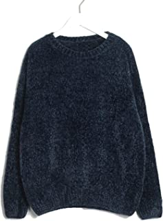 FAT BIG CAT Women Sweater Solid Female O Neck Warm Thick Ladies Knitted Basic Daily Pull Jumpers Autumn Winter
