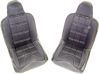 MasterCraft 525200 Nomad Seat with Fixed Headrest, Black/Black, Pair