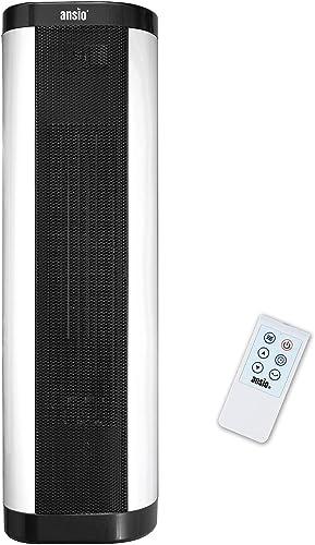 ANSIO Calefactor, Interna Oscilación Calentador Potente eléctrico de cerámica portatil silencioso Vertical Calentador...