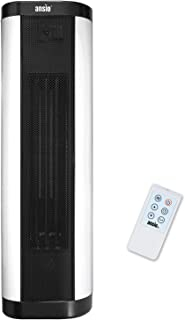ANSIO Calefactor, Oscilante Calentador de Torre PTC con Control Remoto - 2000 W Vertical/Plano Calefactor-Oscilación Interna,24 Horas de Temporizador y 2 configuraciones de Calor