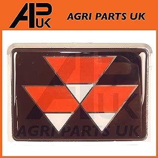 APUK Hood Bonnet Emblem Decal Sticker Set compatible with MF Massey Ferguson 165 168 Tractors