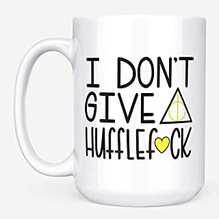 I Don't Give A Hufflef*ck - Funny Harry Potter 11 or 15 oz. Mug - Hufflepuff Cup by MaxAndMitchCo