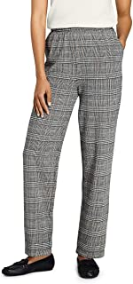 Lands' End Women's Sport Knit High Rise Elastic Waist Pull On Pant - Print