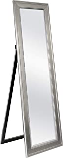 MCS Clavos Cheval Mirror 19.5 x 59.5 Inch Overall Size Silver