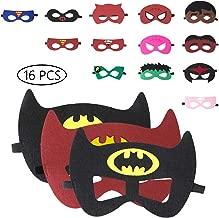 URAQT Mascaras Superheroes, Máscaras para Niños, Máscaras Disfraz Superheroes Niños, Máscaras para Niños, Superheroes Party Máscaras, para Niños Mayores de 3 Años -16 Piezas