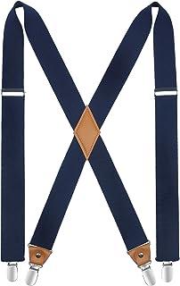ヒスデン(HISDERN)サスペンダー メンズ サスペンダー X型 35mm 男女兼用 ズボン吊り ホルスター 結婚式 ビジネス カジュアル [全11色,ワンサイズ,調節可能] SXL201