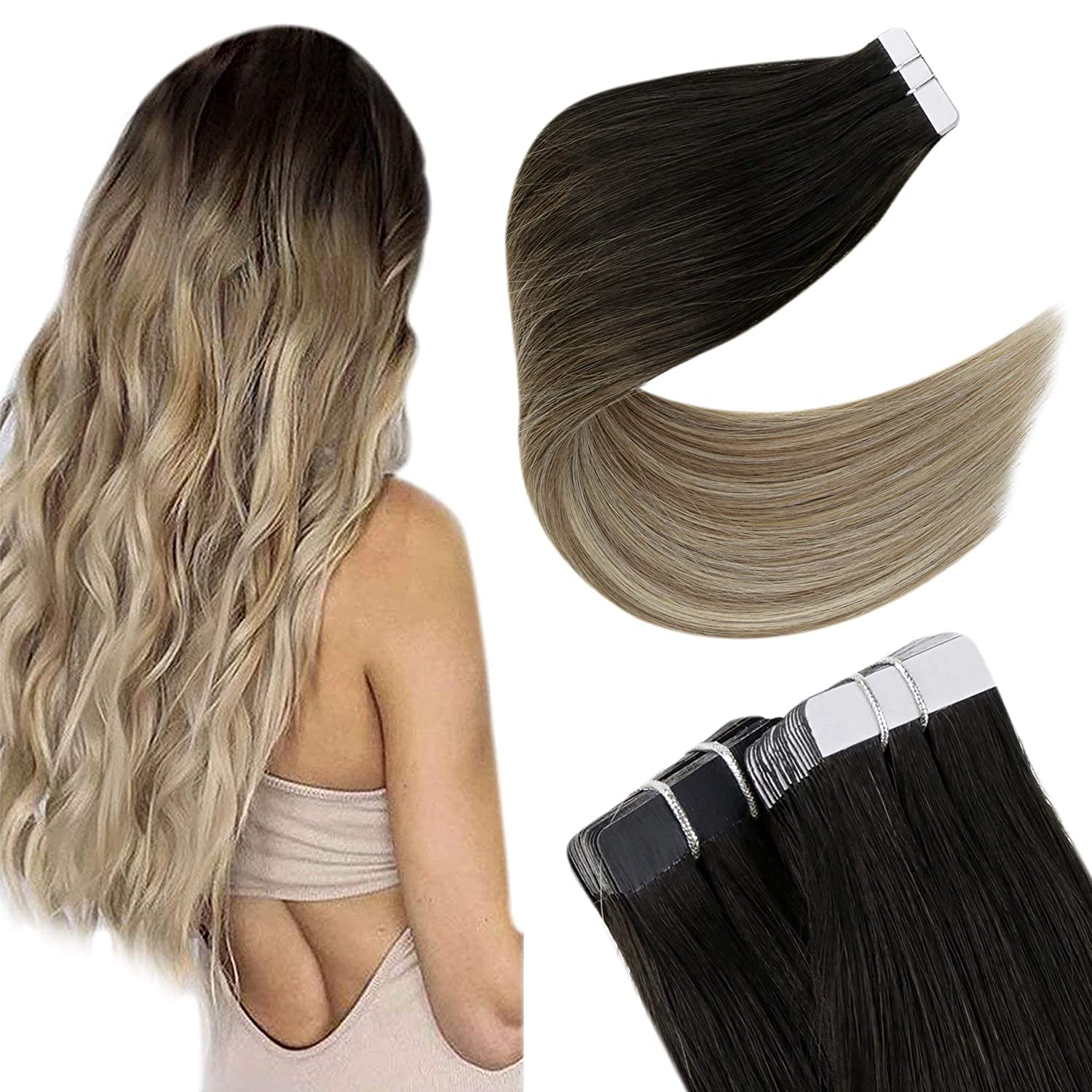 Easyouth Invisible Tape in Hair Human SEAL limited product Extensions Stra Lowest price challenge Silky