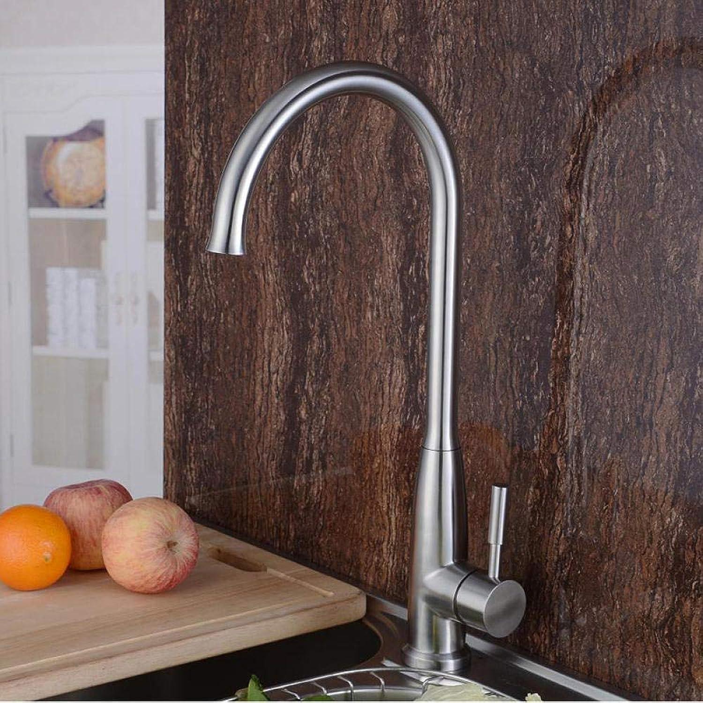 Faucet Chrome Sink Stainless Steel Kitchen Faucet Faucet Wholesale New 304 Unleaded Kitchen Simple Mix
