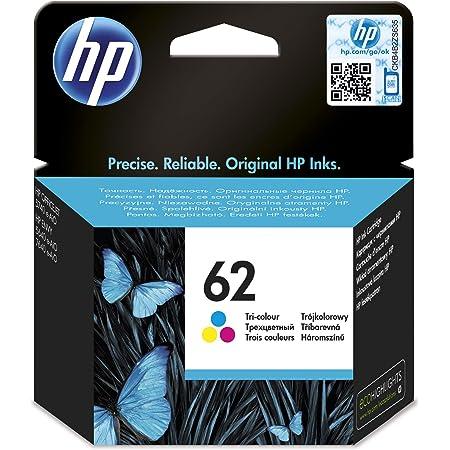 HP 62 Cartouche d'Encre Trois Couleurs Authentique (C2P06AE)