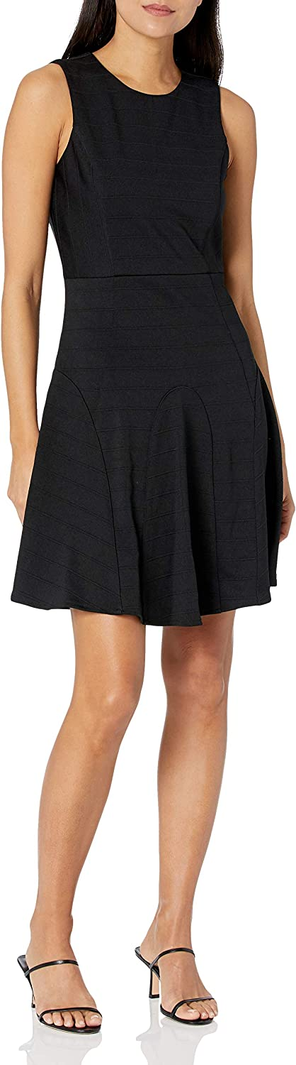 4.collective Women's Anna Ribbed Fit-And-Flare Dress