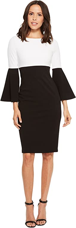 Calvin Klein - Color Block Bell Sleeve Dress CD8C15HU