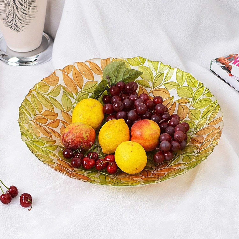 GONGFF Assiette décorative en Verre Salon créatif Moderne Fruits séchés Assiette Panier de Fruits