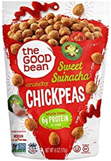 The Good Bean Crunchy Chickpeas Snacks, Sweet Sriracha , 6 Ounce