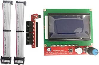 Alwayshare 3D Printer Parts Smart Screen Panel LCD 12864 Display Blue Screen fit RAMPS 1.4