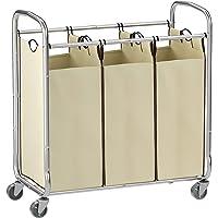 SONGMICS 3-Bag Rolling Laundry Sorter Cart