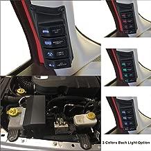Apollointech Left Side A-Pillar 4-Switch Pod / Panel & Source Control System Fit Jeep Wrangler JK & JKU 2007 - 2017( Blue Back Light)