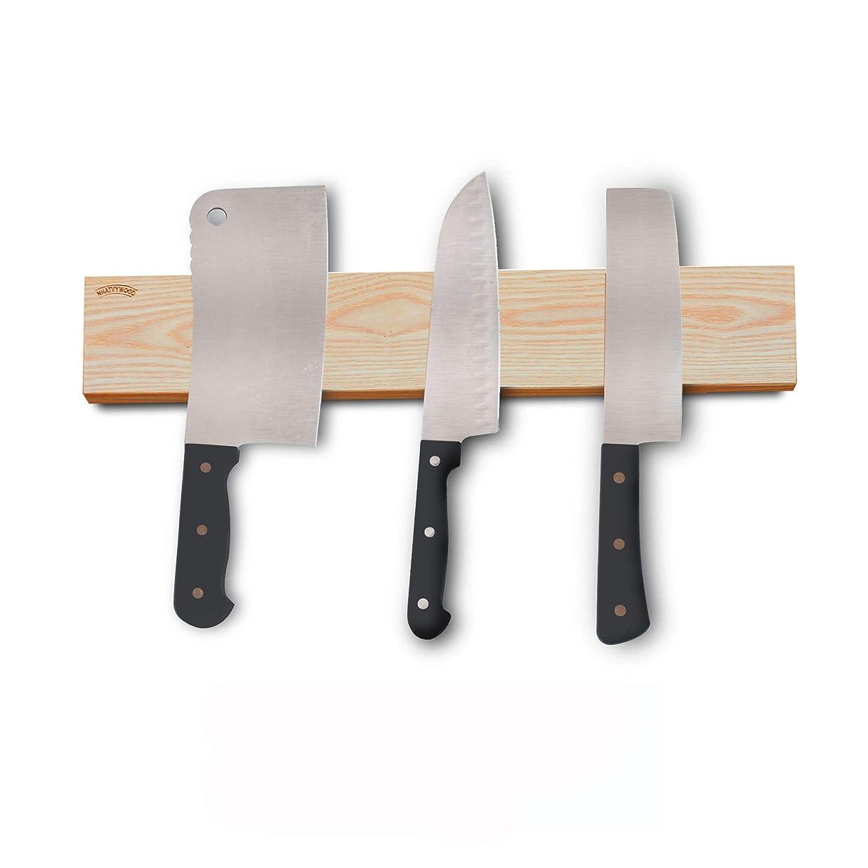 引退する杭起きろキッチン包丁収納マグネットは3Mテープ強力両面テープ NHATVYWOODを付属されています。 (18 インチ)