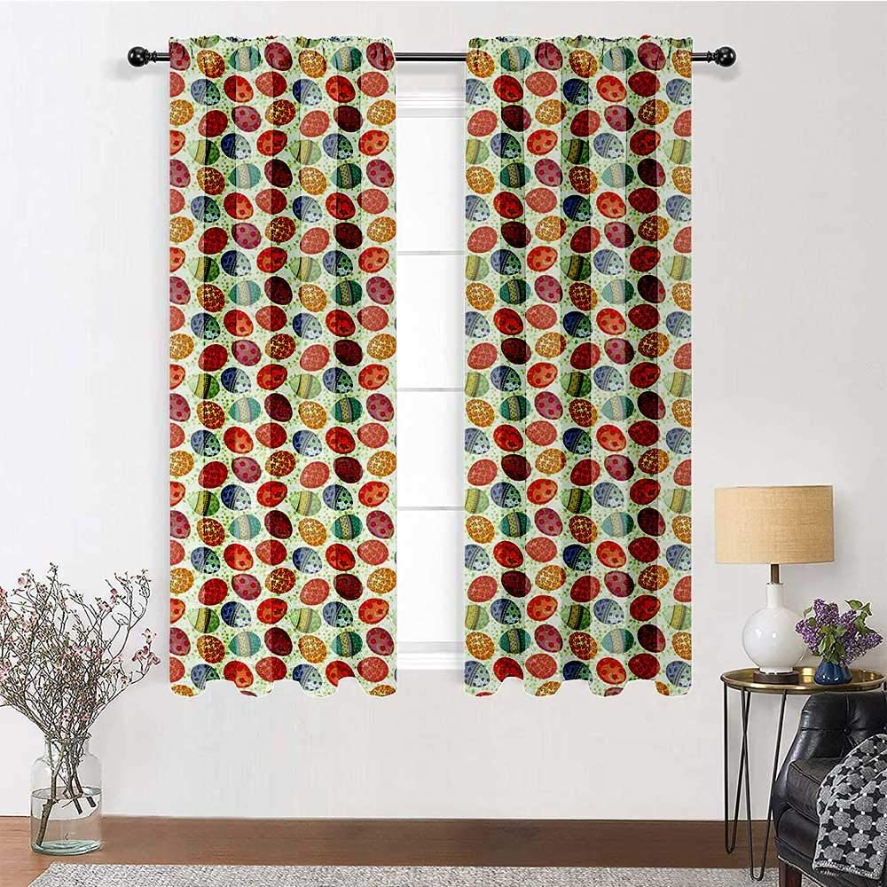 GugeABC Patio Dealing full price reduction Curtains 96 inch Rod Easter Curtain Length New arrival Pocket