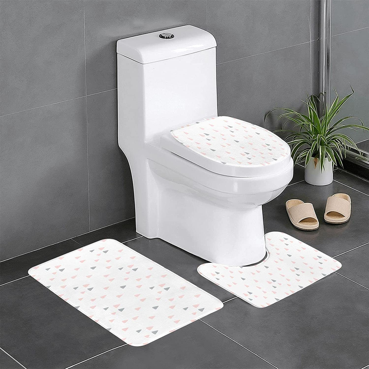Cute Pattern Soft Non Slip Piece Set,U-Shaped Ranking TOP13 Selling and selling 3 Bathroom Rugs