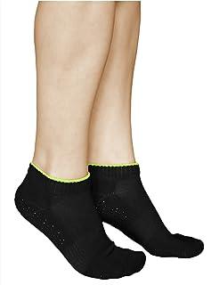 vitsocks, Calcetines Antideslizantes Mujer (3 PARES) Suela Goma Deportivos para Yoga Pilates ALGODÓN