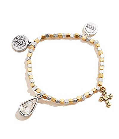 Alex and Ani Faith Hope Multi Charm Stretch Bracelet (Silver) Bracelet
