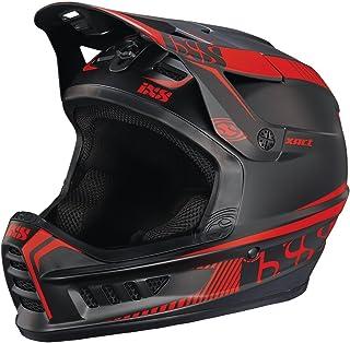 iXS Full Face Helm XACT Downhill Mountain Bike DH MTB BMX Enduro FR Fahrrad, 470-510-6520, Farbe Black Fluo Red - Schwarz Rot, Größe L/XL