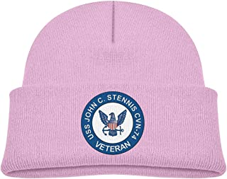ADGoods Kids Children USS John C Stennis CVN-74 Veteran Beanie Hat Knitted Beanie Knit Beanie For Boys Girls Gorra de béis...