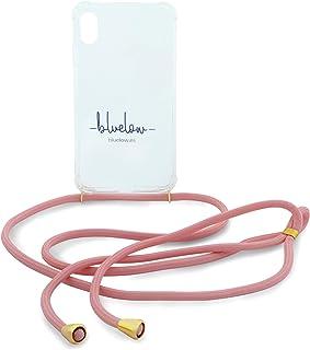 Bluelow - Funda Colgante para iPhone Samsung y Huawei - con Cordones para Colgar el movil - Diseñado en Madrid Producido en España (iPhone 6/6s, Coral)