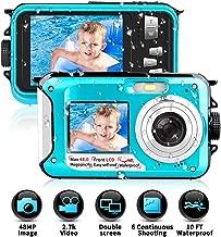 Waterproof Camera Underwater Camera 2.7K FULL HD 48MP 16X Digital Zoom Waterproof Digital Camera Self-timer Dual Screens Anti Shake Digital Cameras