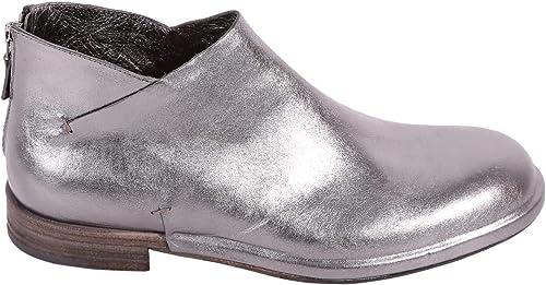DEL CARLO Damen 10202LAMINATOPELTRO Silber Leder Stiefeletten