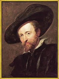 フレーム Peter Paul Rubens 艺术家 ジクレープリント キャンバス 印刷 複製画 絵画 ポスター(自画像) #XLK