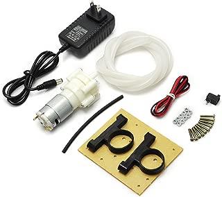 Gikfun R385 Mini Aquarium Pump Fish Tank Motor with 12V 1A US Plug and 1m Tube for Diaphragm Pump Water Air Pump for Arduino EK1912