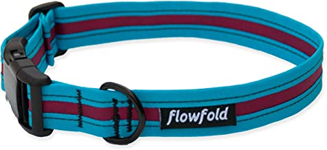 product image for Flowfold Trailmate Dog Collar - Durable & Waterproof - Easy to Clean & Handle - Adjustable - for All Dog Breeds - Vegan - Made in The USA