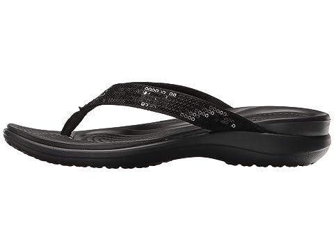Crocs V Sequin Crocs Capri V Sequin Capri Black Black Crocs TSwTRxq