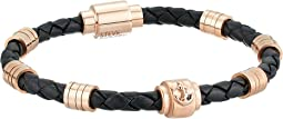 Steve Madden - Stainless Steel Rondelle/Braid Leather Bracelet