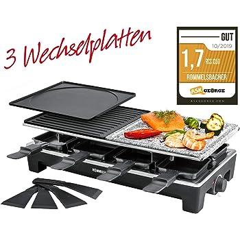 Tefal PR4578 Raclette Grillplatte Inox /& Design für 10 Pers schwarz//edelstahl