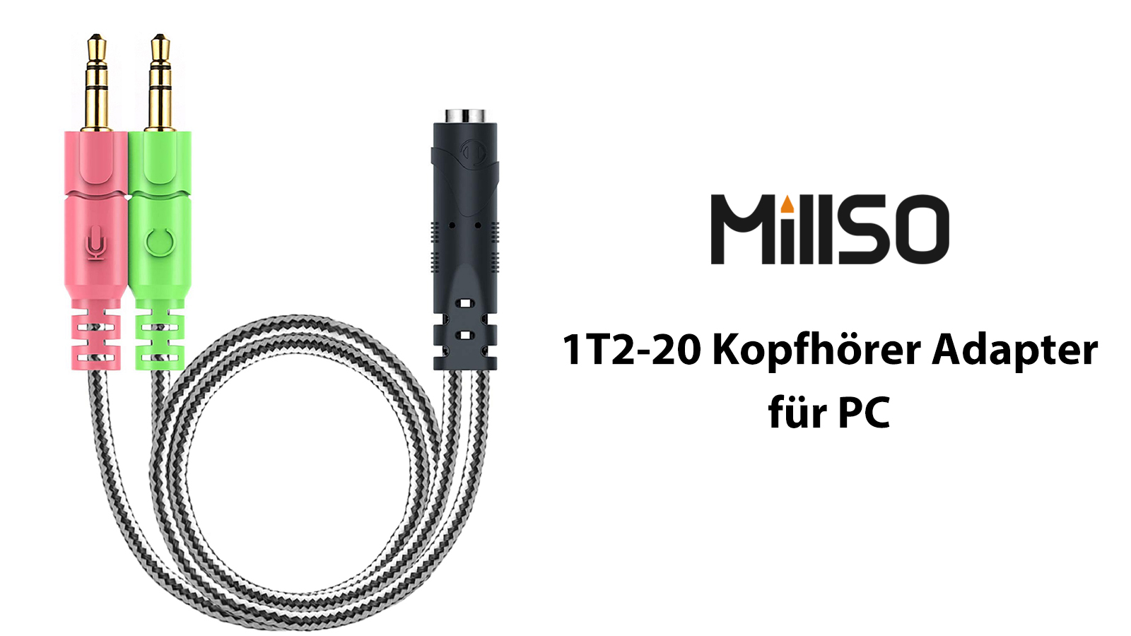 Millso 3 5 Mm Headset Adaptor Elektronik